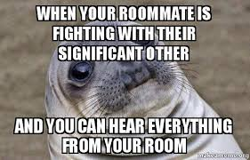 Roommate Memes - when your roommate is fighting with their significant other and