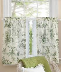 Toile Cafe Curtains Lenoxdale Toile Tier Curtains Country Curtains皰 Curtains