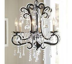 Candle Chandelier Pottery Barn Paige Crystal Chandelier Bronze Finish Chandeliers Crystals