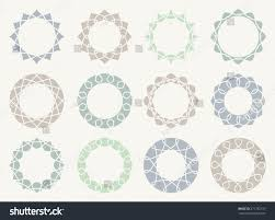 abstract symbol simple geometric frame logo stock vector 271782197