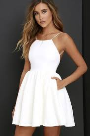 dresses graduation chic freely ivory backless skater dress ivory graduation