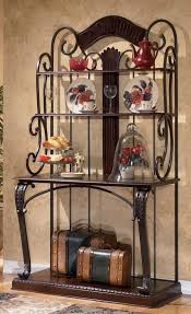 Metal And Wood Bakers Rack Wooden Bakers Rack With Wine Storage And Drawers Bakers Rack For
