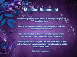 my personal mission statement for 2014 http kathynicholls com