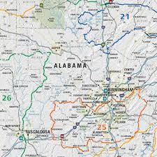Maps Of Georgia Mad Maps Usrt140 Scenic Road Trips Map Of Georgia And Alabama