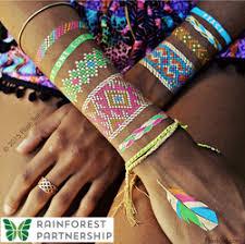 Tropical Themed Tattoos - flash tattoos jewelry inspired metallic temporary tattoos