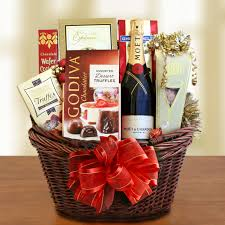 wine and chocolate gift basket classic moet chagne and chocolate gift basket wine