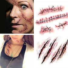 latex for halloween makeup aliexpress com buy halloween zombie scars tattoos with fake scab