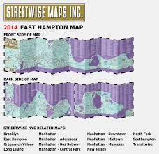 Map Of Midtown Manhattan Streetwise East Hampton Map Laminated City Street Map Of East