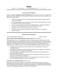 Call Center Customer Service Representative Resume Examples by Summary For Resume Examples Customer Service Resume For Your Job
