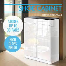30 pair shoe cabinet high gloss 30 pairs wooden shoe cabinet rack storage organiser shelf