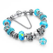 glass beads pandora bracelet images 925 sterling silver charm bracelet with murano glass beads blown jpg