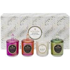 4 votive candle gift set assorted voluspa