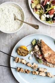 Ina Garten Greek Salad Grilled Chicken Souvlaki With Tzatziki Sauce U0026 Greek Salad Recipe