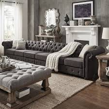 Best 25 Chesterfield Living Room Best 25 Grey Tufted Sofa Ideas On Pinterest Comfortable Living