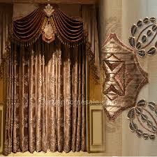 Thermal Cafe Curtains Custom Made Victorian Style Velvet Thermal Curtain In Coffee Color