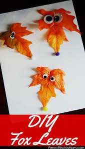diy fox leaves an easy fall craft perfect for kids