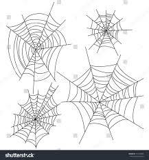 spider web halloween vector decorations set stock vector 714198346