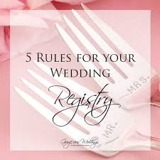 setting up a wedding registry up on the today five must follow when setting up your