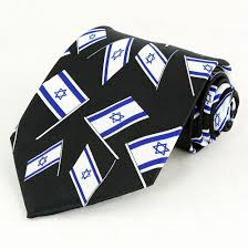 hanukkah ties israeli flag mens necktie black neck tie david flag