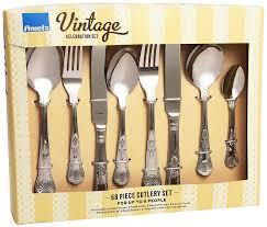 amefa vintage kings 58 piece 8 person luxury cutlery set gift