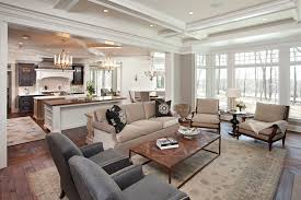 Kitchen Island With Seating Area Great Room Area Rugs Living Room Traditional With Wood Floor