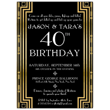 gatsby invitations gatsby gold couples birthday invitations paperstyle