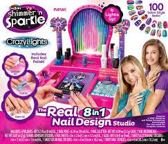 cra z art shimmer u0027n sparkle the real 8 in 1 nail design studio