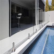 decorative glass balcony railing design with stainless steel spigot