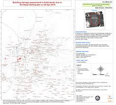 Map Of Nepal India by Earthquake And Landslide In Nepal And India Charter Activations