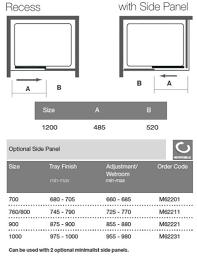 Shower Door Magnetic Strips by Merlyn 6 Series Framed Sliding Shower Door 1200mm