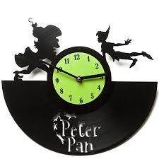 amazon com peter pan clocks vinyl clocks vinyl wall clocks