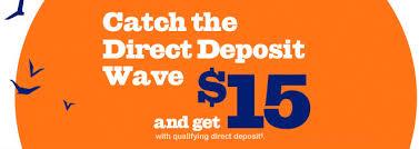 direct deposit card prepaid card 15 direct deposit bonus accountnow