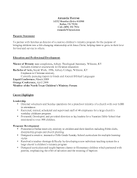 Sample Resume Objectives For Social Services by Ministry Resume Templates Resume For Your Job Application