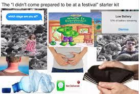 Music Festival Meme - the music festival starter kit