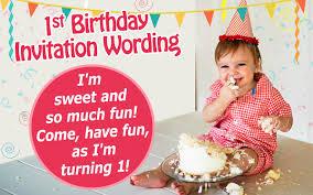 sample birthday invitation wording for 1st birthday free