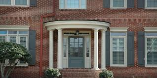 awesome picture of what exterior paint color goes with red brick