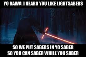 Lightsaber Meme - star wars the force awakens teaser trailer memes