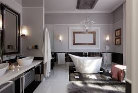 apartment beautiful bathroom with ceramic design for modern