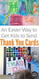 thank you cards for kids make one and copy it peinture pour