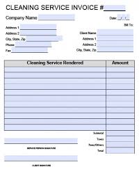 invoice template for cleaning services ontologize me