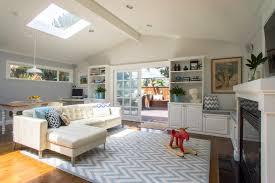 Rugs For Dark Floors White Leather Sofa Living Room Contemporary With Bearskin Rug Dark