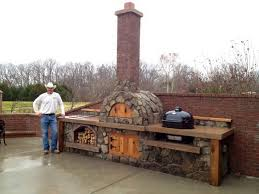 rustic outdoor kitchen ideas what about something like this minus the the top chimney