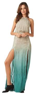 ombre maxi dress blue ombre 2 slit halter in casual maxi dress size