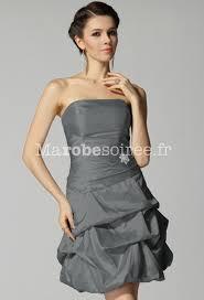 robe de mariã e grise et blanche robe grise pour mariage bustier robe bersun