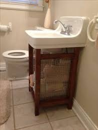 Water Under Bathroom Floor Oh Yeah I Have The Same Space No Wicker Or Fabric Drawers For