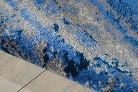 Couristan Area Rugs Couristan Moonwalk Cosmic Cobalt Blue Area Rug Floor