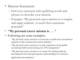 Example Of Personal Statement For Resume by Resume Mission Statement Resume Badak