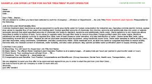 Water Treatment Plant Operator Resume Water Treatment Plant Operator Job Title Docs