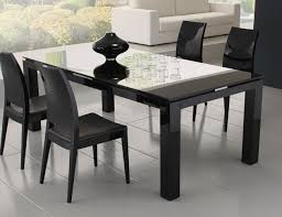 Black Square Dining Table Likeable Modern Dining Table With Black Color Home Decor At