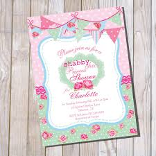 shabby chic baby shower shabby chic princess baby shower invitation for a girl